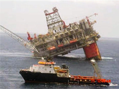 BP Deep Water Platform Thunderhorse after Hurricane Dennis, 2011 (Prof. Goose)