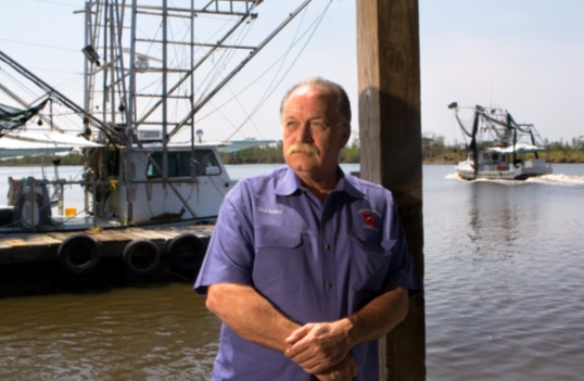 Clint Guidry, shrimper   (Ed Lallo/Gulf Seafood News)