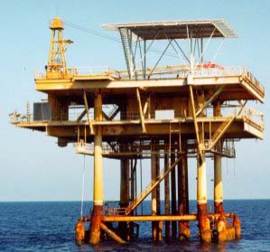 Well protector structure in the Gulf of Mexico. TSB Offshore, Inc. 2006
